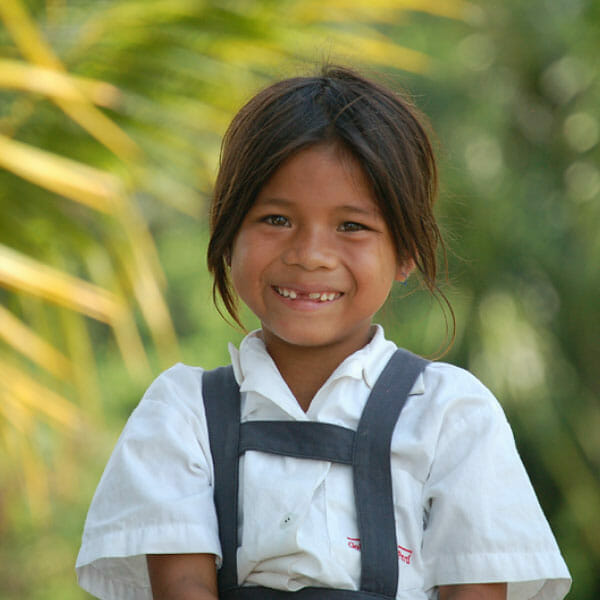 A picture of a student smiling in Peru