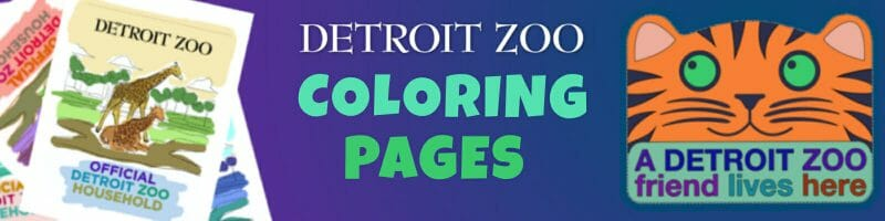 Detroit Zoo Coloring Pages banner
